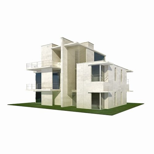 Modern house building 3d model cgtrader for 3d house builder online