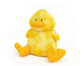 3D model Yellow Stuffed Duck