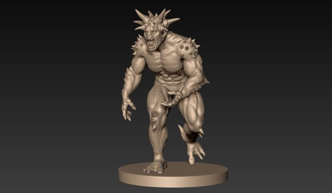 demon creature 05 3d model obj ztl 1