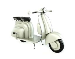 3D model White Retro Scooter