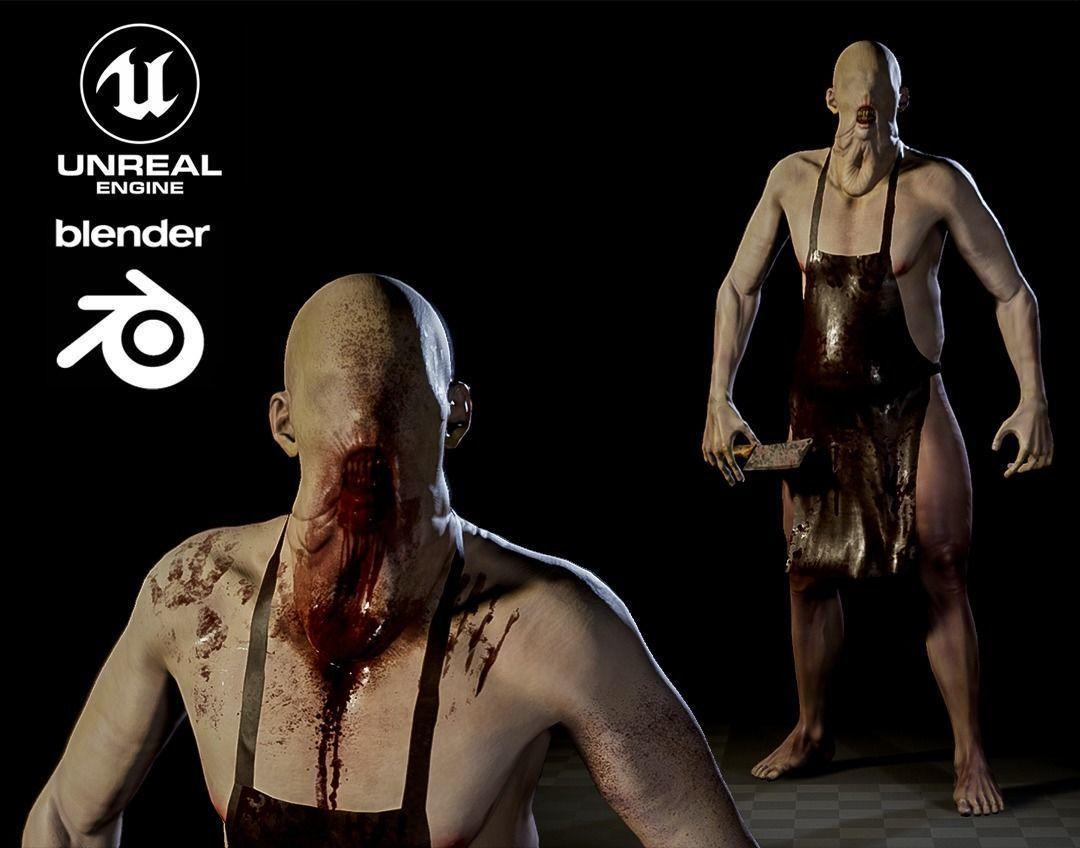 Blind Butcher charcter game model