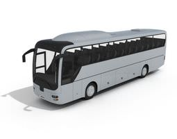 White Passanger Bus 3D