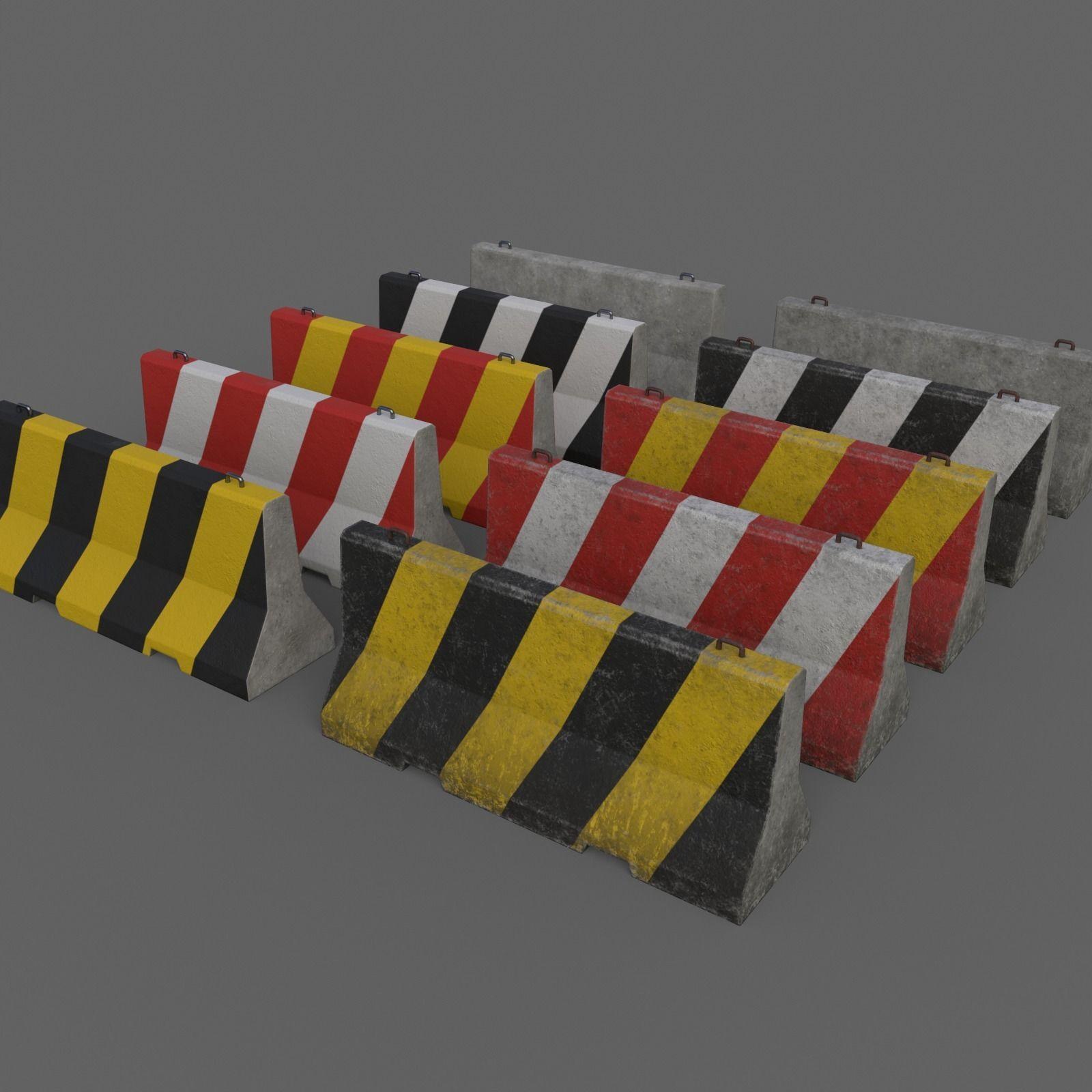 PBR Concrete Barrier V1