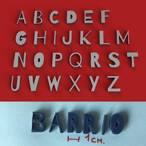 BARRIO1 AND BARRIO2 - 3D Letters STL FILE