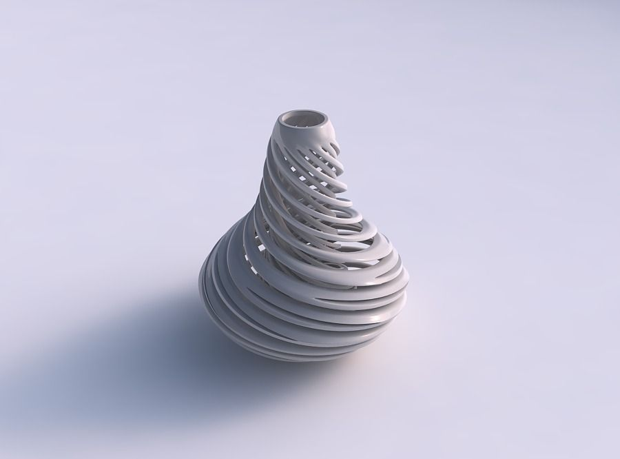 Vase bulb with twisted inner and outer lines very twisted and tapered 2 |  3D Print Model