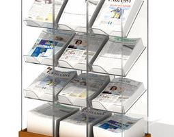3d shelves   mobile newspaper holder