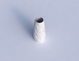 Vase Bullet with twisted rocky bulges 3D Model