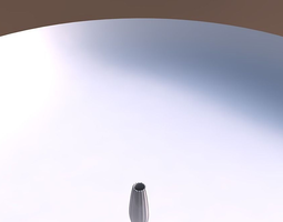 Vase Bullet with smooth vertical ribbons 3D Model