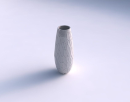 3d print model vase bullet with fine organic cells