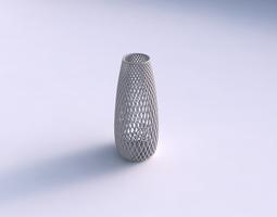 Vase Bullet with fine diagonal grid lattice 3D Model