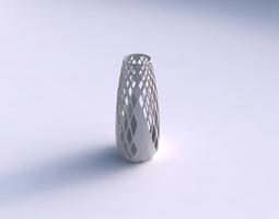 Vase Bullet with diagonal grid lattice 3 3D Model