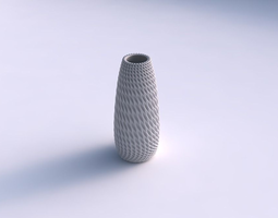 Vase Bullet with bent extruded pattern 3D Model