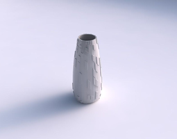 Vase Bullet with wavy scattered grid plates 3D Model
