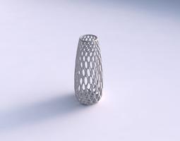 vase bullet with bubble grid lattice 3d printable model
