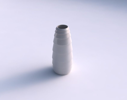 3d printable model vase bullet with horizontal inverted layers