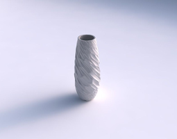 Vase Bullet with fine twisted organic cells 3D Model