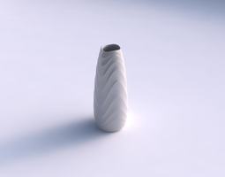 Vase Bullet with curved horizontal wavy sections 3D Model