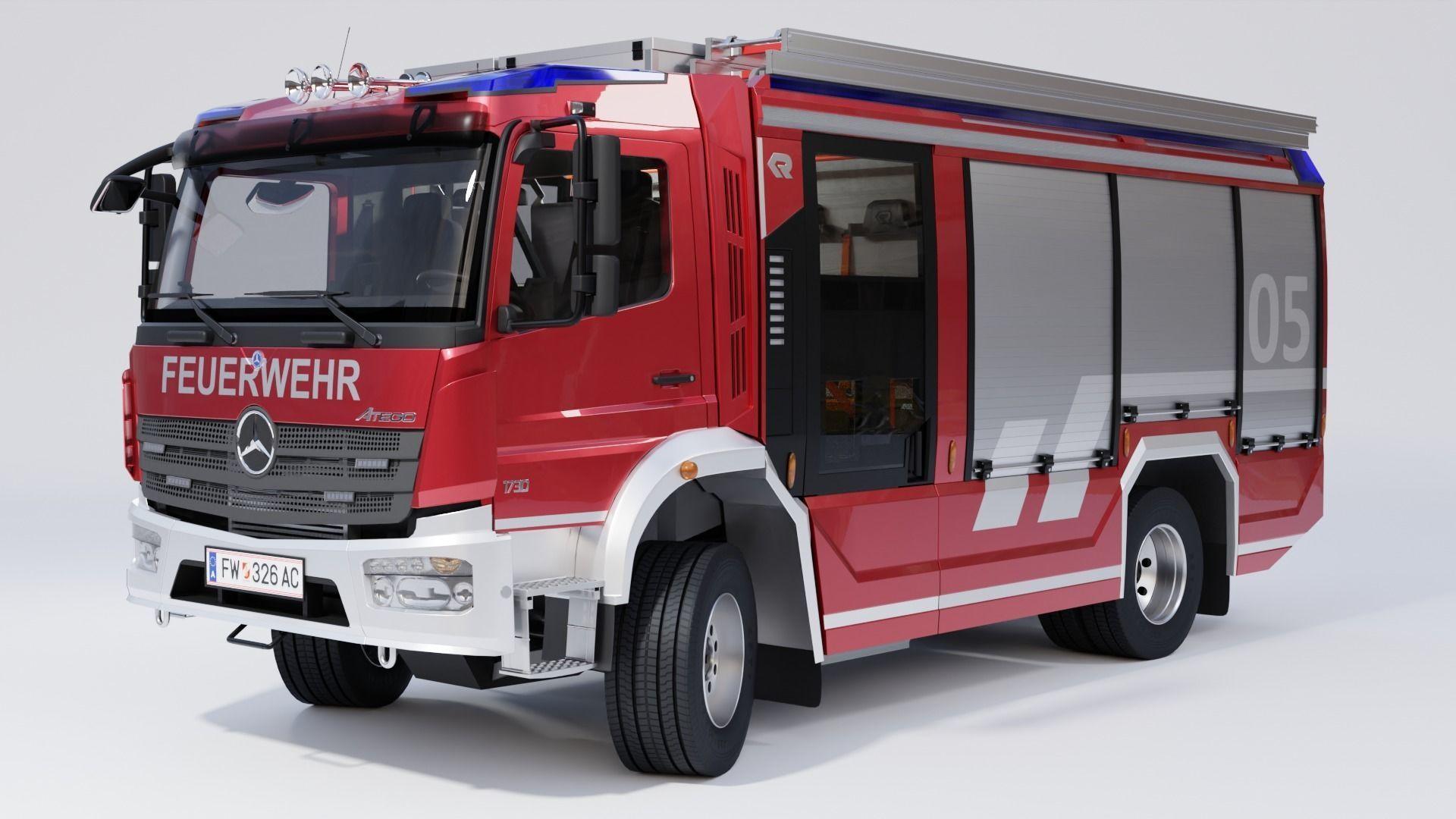 Rosenbauer AT Fire Truck