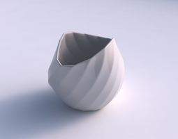 Bowl compressed 3 with bands 3D printable model