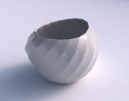 3D print model Bowl compressed 2 with bands