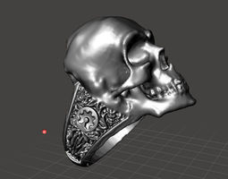 maker skull ring 3d printable model