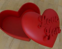 3D print model heart container