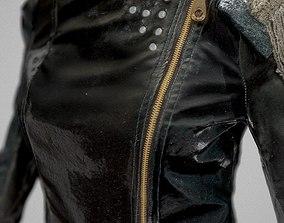 Black Jacket and Legging 3D asset