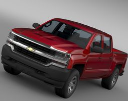chevrolet silverado wt crew cab short box 2017 3d model