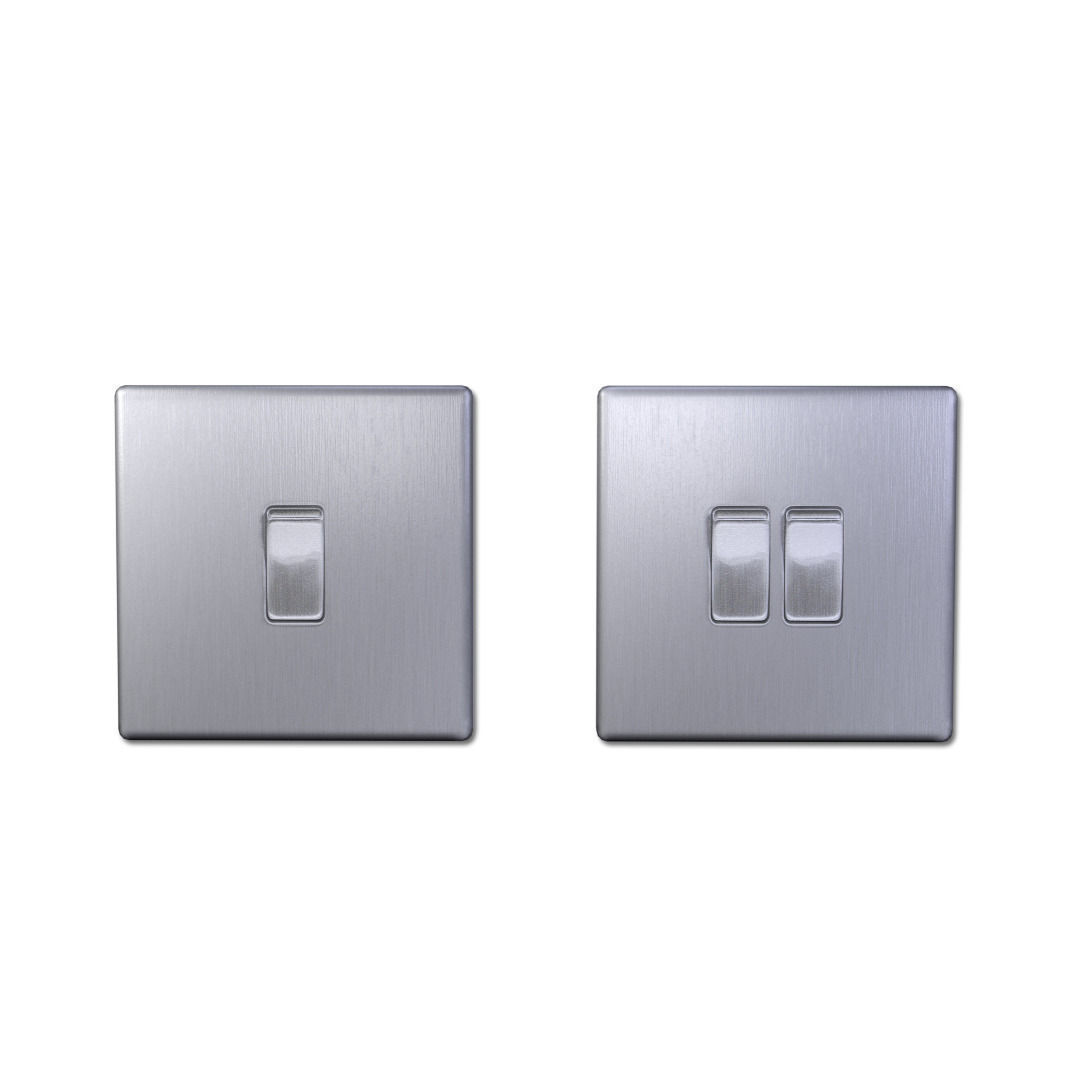3D model Light Switches Single and Double LOW POLY VR / AR / low ...
