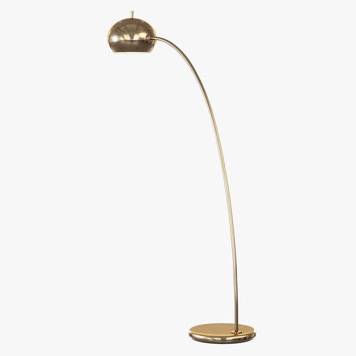 Petite arc metal floor lamp 3d model max obj 3ds fbx mtl for Floor lamp 3ds max free model