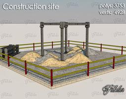 VR / AR ready construction site 3d model