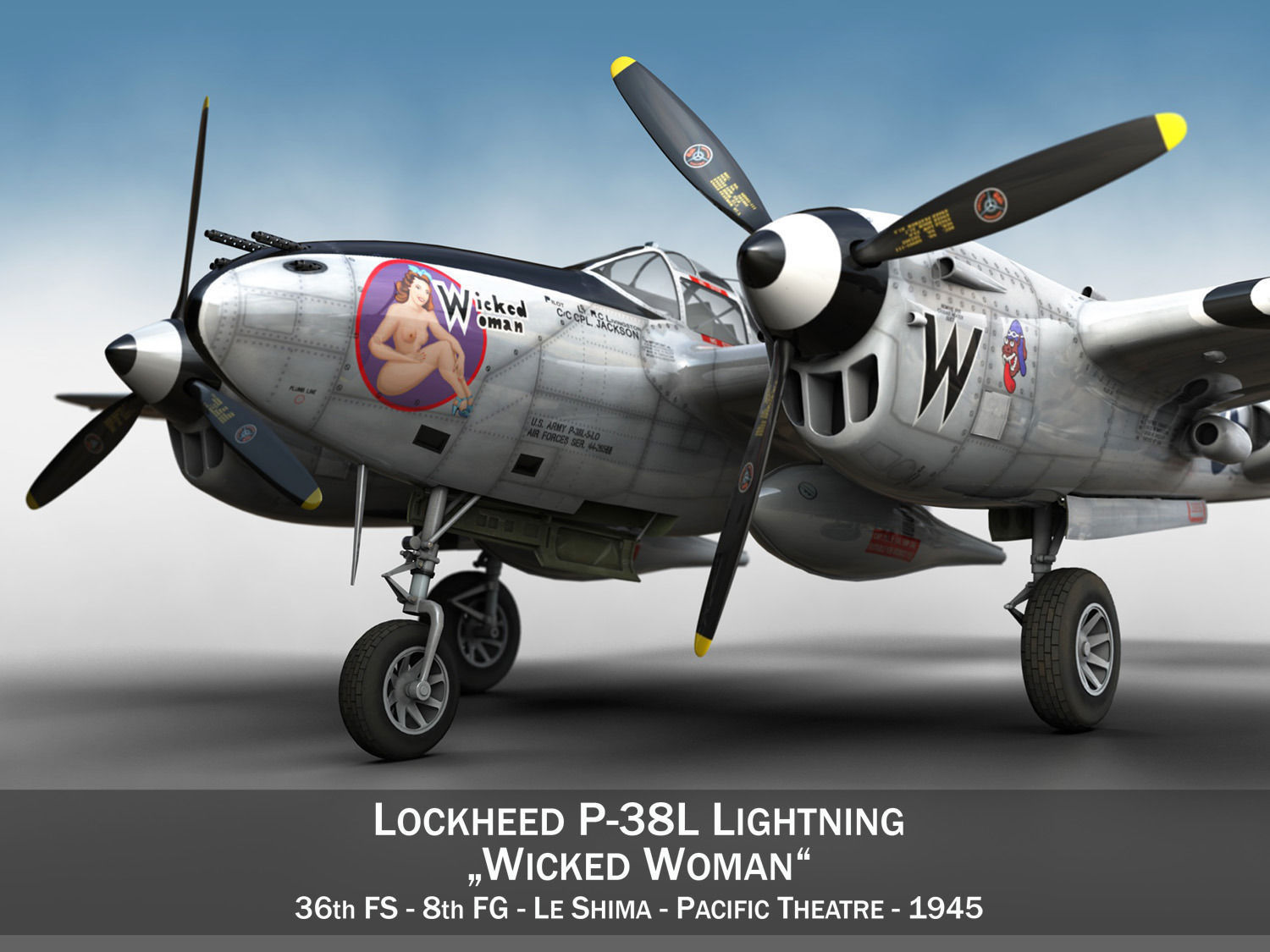 lockheed-p-38-lightning-wicked-woman-3d-