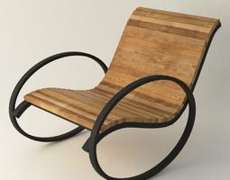 Modernistic Vintage chair 3D asset