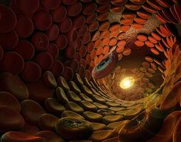 blood cells 3d