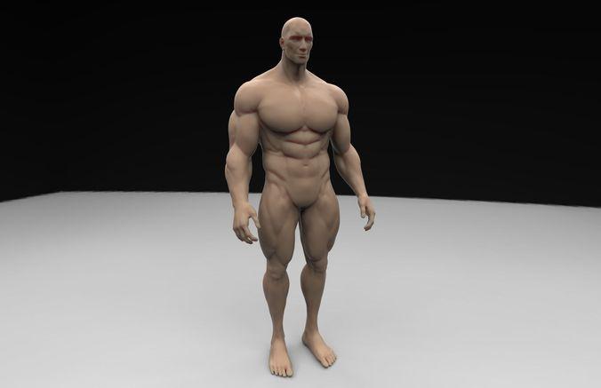 human body 3d model obj mtl stl 1
