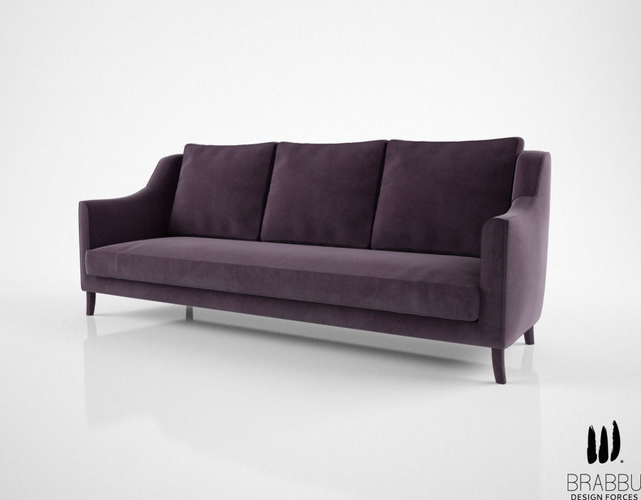 Brabbu como sofa 3d model max obj fbx mtl for Sofa 3d model
