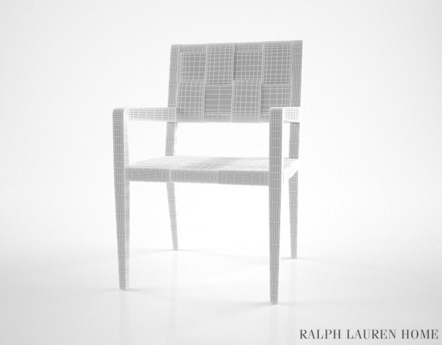 Ralph Lauren New Safari Woven Leather Dining Chair 3d Model Max Obj
