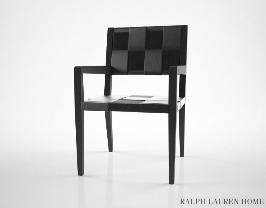 Surprising Ralph Lauren New Safari Woven Leather Dining Chair 3D Model Theyellowbook Wood Chair Design Ideas Theyellowbookinfo
