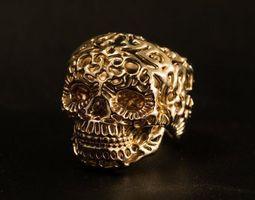 3D printable model Ring skul