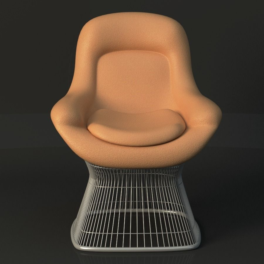 ... Warren Platner Lounge Chair 3d Model Max Obj Fbx Ma Mb Mtl 2 ...