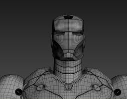 iron man 3 suits game-ready 3d model