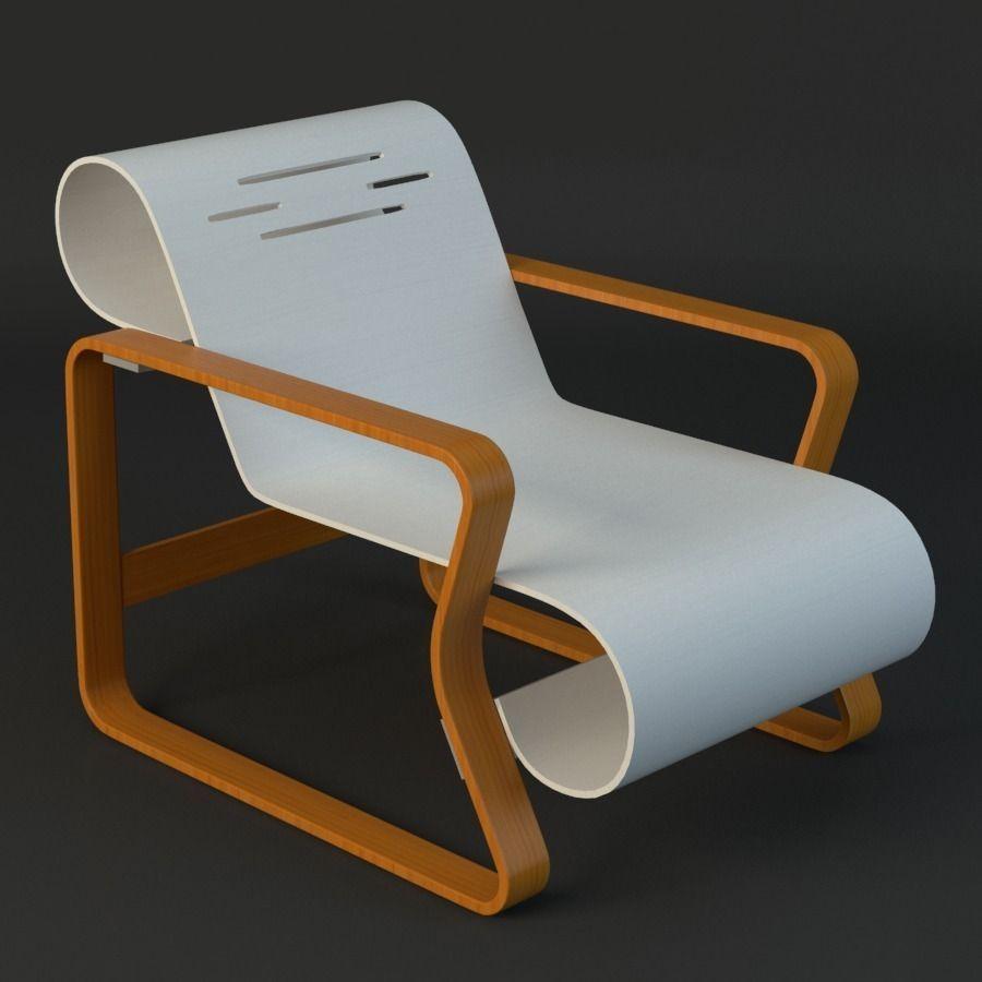 Alvar Aalto Chair 3d Model Max Obj Fbx Ma Mb Mtl 1 ...