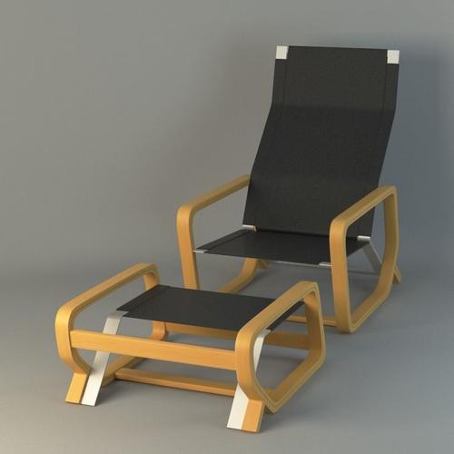 toro lounge chair 3d model max obj mtl fbx ma mb 1