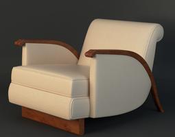 3D model Jacques Emile Ruhlmann Chair