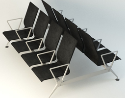 3D model Airports Transportation Chair