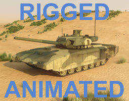 T14 Armata Rigged and animated 3D Model