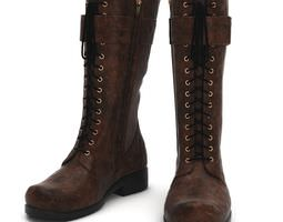 Leather Laced Boots 3D