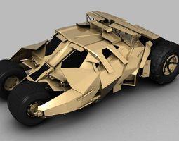 bat man tumbler car 3d model obj ma mb mtl