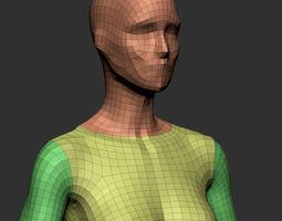 3d female base mesh v2