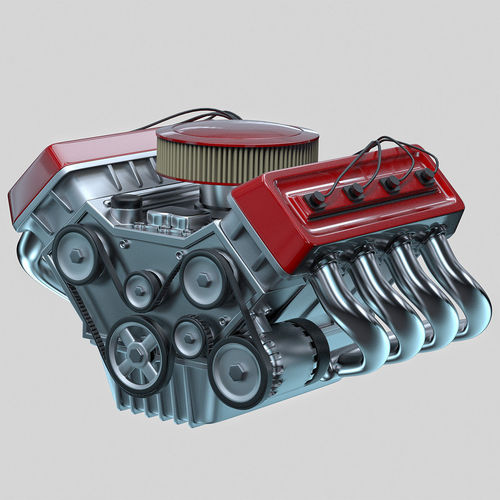 3d Model Car Engine Animated Cgtrader